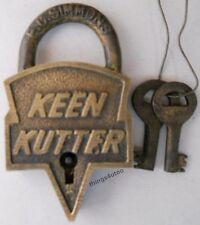 Keen Kutter lock Solid Brass Padlock + keys #L5