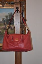 COACH Sabrina Cherry Red Leather Carriage Shoulder Hand Bag Satchel NWT $498