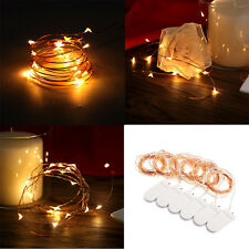 6x 2M 20 LEDs Battery Operated Mini LED Copper Wire String Fairy Lights