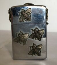 Vintage CHAMP-DE-LUXE Lighter with 3D Bees/Flys All Over - Very Cool!!!