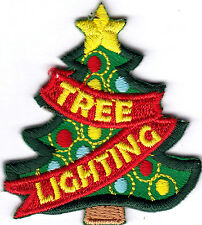 "CHRISTMAS ""TREE LIGHTING"" - HOLIDAYS - TRADITION - IRON ON EMBROIDERED PATCH"