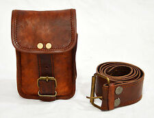 real vintage leather hunters choice waist pouch with belt goat hide classic,@
