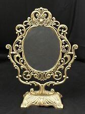 Andrea by Sadek Vintage Brass Art Nouveau Vanity Mirror