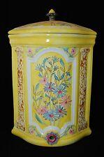 Fontaine Faïence Jaune Art Nouveau Ancien Belge Jugendstil French Belgian