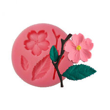 3D Silicone Cake Fondant Mold, Cake Decoration Tools, Soap, Plum Flower Moulds