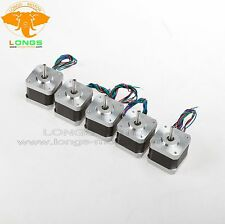 Stepper Motor 5PCS Nema17 12V 34mm 4leads 0.4A 1.8° 17HS3404N CNC 3D printer