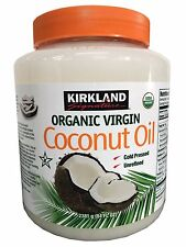 Kirkland Organic Virgin Coconut Oil Unrefined Cold Pressed Chemical Free 84oz