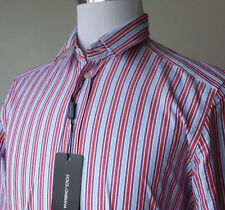 Dolce&Gabbana men dress shirt size 15 3/4 - 32/33 SLIM FIT stripes Made in Italy