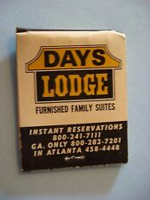 1970s Matches Matchbook ~ DAYS INN Budget Luxury Motel & Family Furnished Suites