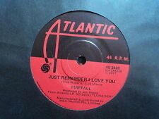 "Firefall ""Just Remember I Love You"" Rare Oz 7"""