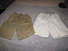 T-MART AND SONOMA  BOY'S 2 PAIRS of   Shorts  size 6