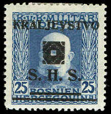Scott # 1L29 - 1919 - ' Emperor Franz Joseph ', B&H #73 Ovpt Type e in Black
