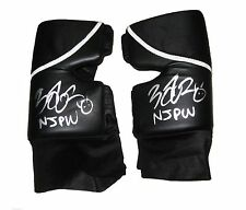WWE NXT FINN BALOR RING WORN HAND SIGNED BLK WHITE KNEEPADS W/PIC PROOF COA RARE