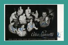 CELSO LANZETTI | Tanzorchester | Original-Autogramm auf Starpostkarte