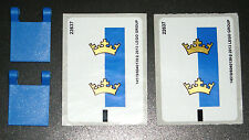 LEGO 2 Castle Crown Flags Blue Clips Dual Sided Decals Minifigure Tool 70402 NEW