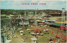 Amusement Rides at Ionia Free Fair in Ionia MI Postcard