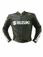 SUZUKI GSXR MOTORBIKE LEATHER JACKET CE APPROVED FULL PROTECTION ALL SIZES