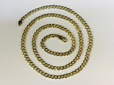 "18KT Solid Gold Miami Cuban Curb Link 26"" 5 mm 40 grams chain/Necklace MC150"