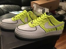 Nike Air Force 1 Low Supreme I/O White/Neon Yellow-Black 318287 171 Size 10.5