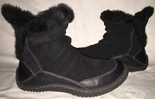 Womens Size 8 B KALSO EARTH INVENT Black Negative Heel Mukluk Winter Fur Boots