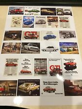 1/18 diorama Retro VW garage posters  0023