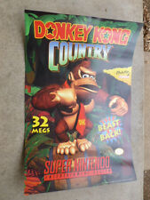 Donkey Kong Country Poster SNES Super Nintendo Video Game Poster From 1994