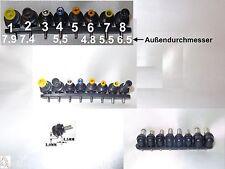 8x Netzteilsteckeradapter 2Pin auf Stecker Acer Asus IBM Toshiba HP Sony Samsung