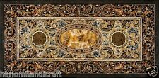 Size 2.5'x5' Marble Dining Table Top Pietradure Inlay Mosaic Deco Furnitur H1552