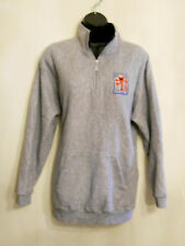 Elmo Fleece Sweat Shirt size Large Sesame Street Fuzzy Quarter Zip Pull Over Top