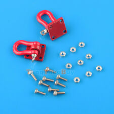 2 pcs 1:10 Scale Alloy Hooks Hitch Tow Shackles w/ Mounting Bracket RC Crawler