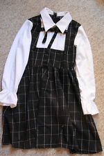 1950s lolita plaid retro dress vintage lolita dress tea dress AU size 8