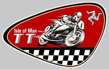 TT ISLE OF MAN BIKER 100X65mm AUTOCOLLANT STICKER MOTO IA078