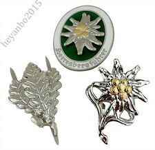 3pcs WWII WW2 German Mountain Division Edelweiss Badge Pin Insignia Sniper Badge