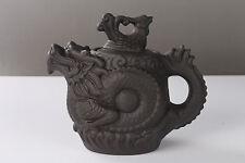 China Handmade Yixing  red stoneware Ceramic dragon Teapot h995