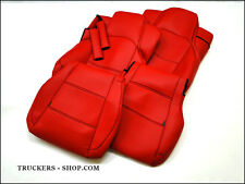 MERCEDES MP4 LEATHERETTE SEAT COVERS RED[TRUCK PARTS & ACCESSORIES]