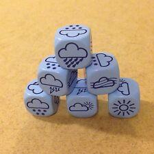 Weather DADI-Confezione da 6 DADI-blu 18 mm per giochi a sei lati D111 educativo