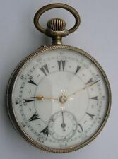 RARE TOP WIND OPEN FACE AND BACK MENS POCKET WATCH OTTOMAN EMPIRE/TURKISH MARKET