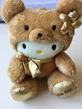 "VINTAGE SANRIO HELLO KITTY LIMITED EDITION JOINTED TEDDY BEAR PLUSH 13"" NEW RARE"