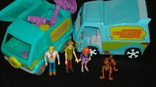Scooby-Doo 2 Trucks Mystery Machine Ghost Patrol and Figure Lot