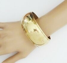 Gorgeous 3 cms Wide and Chunky ANTIQUED Gold Tone Bangle Bracelet Antique Finish