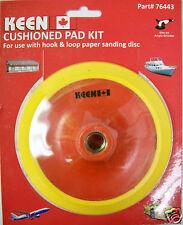 "6"" x 5/8"" Cushioned Pad Kit Hook & Loop Keen Abrasives #76443 - Lot of 1"
