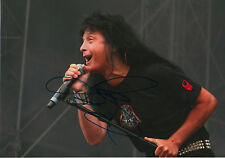 "Joey Belladonna ""Anthrax"" signed 8x12 inch photo autograph"