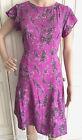 NEW Ex White Stuff Magenta Pink Beige Black Summer Dress Size 8 10 12 14 16 18