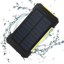 Waterproof 50000mAh Solar Power Bank USB LED Battery Charger For SamSung iPhone