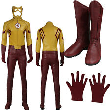 Exclusive Kids Flash The Flash Season3 Barry Allen  Cosplay Costume Cos Boots