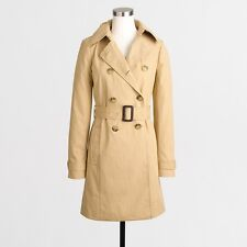 NWT J Crew Trench Coat Warm Sand 0P 0 Petite Factory