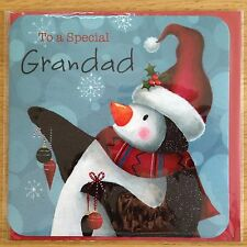 Special Grandad Penguin Christmas New Year Greeting Note Card *NEW* (C53)