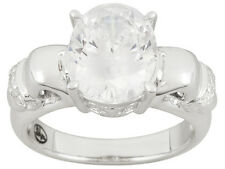 REMY ROTENIER ~ 925  STERLING SILVER RING WITH 4.30 CTW CUBIC ZIRCONIA ~  SIZE 9