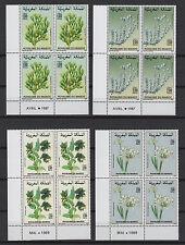 fleurs 1987/89 Royaume du Maroc 16 timbres neufs /T574