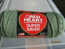 Red Heart Super Saver LIGHT SAGE Green 7 oz 100% Acrylic Worsted Wt #4.NDL